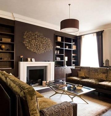 colores marrones para paredes elegantes