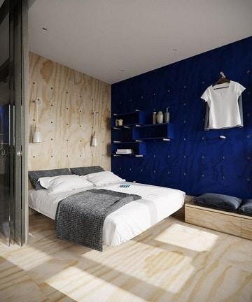 colores para dormitorios de pareja azul