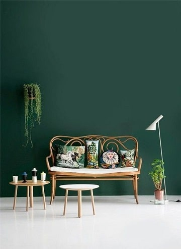 colores verdes para paredes tono jade