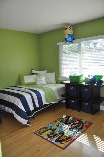 colores verdes para paredes tono manzana