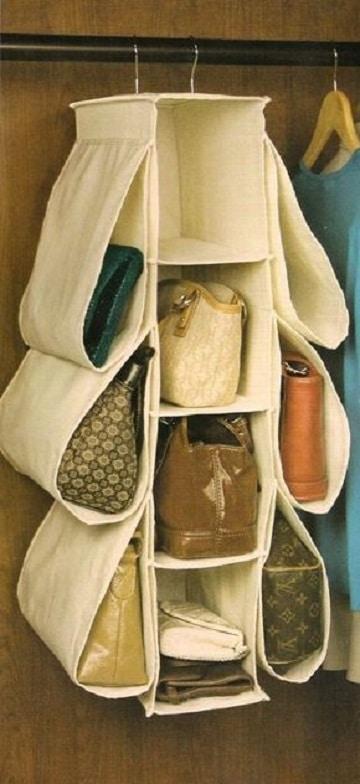 como organizar los bolsos facil