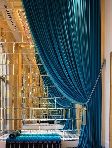 cortinas azules para dormitorio elegantes