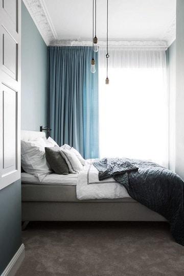 cortinas azules para dormitorio ideas