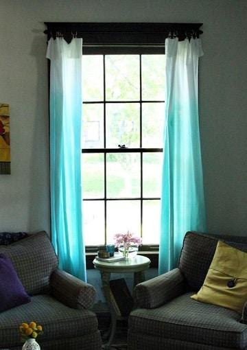 dise os e ideas de cortinas azules para dormitorio