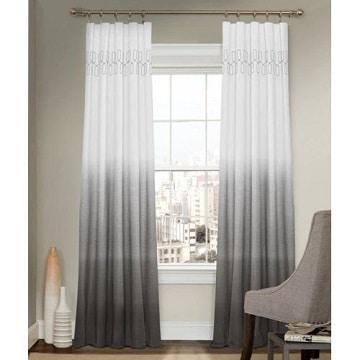 cortinas blancas y grises degradado
