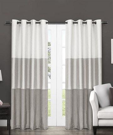 decoraci n con telas y cortinas blancas y grises como