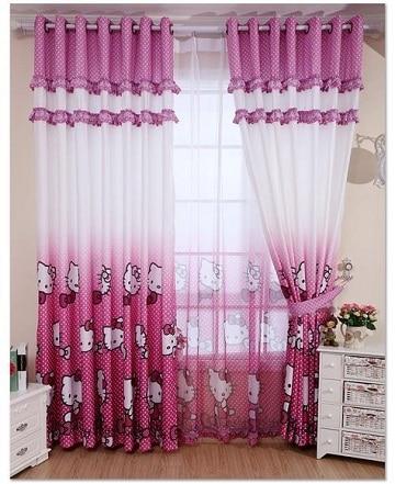 cortinas infantiles para niños hello kitty