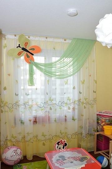 cortinas infantiles para niños mariposas
