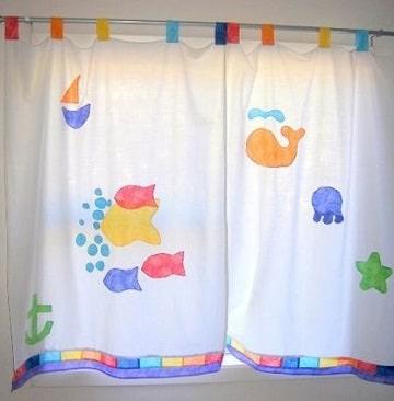 cortinas infantiles para niños peces