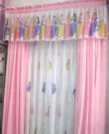 cortinas infantiles para niños princesas
