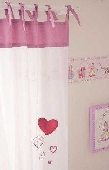 cortinas para cuarto de bebe corazones