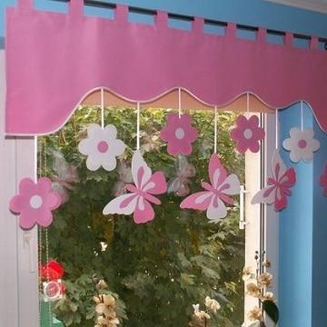 cortinas para cuarto de bebe mariposas