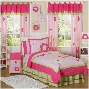 cortinas para habitacion de niña flores