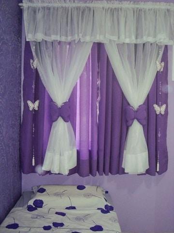 cortinas para habitacion de niña mariposas