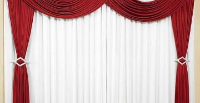 hermosas decoraciones usando cortinas rojas para sala - Cortinas Rojas