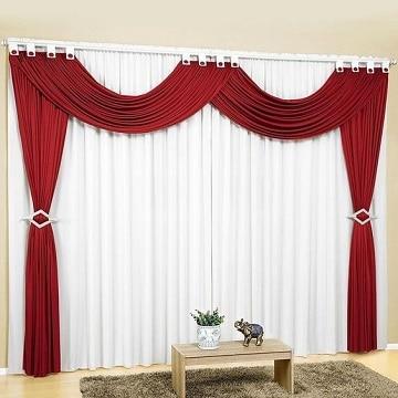 cortinas rojas para sala grandes