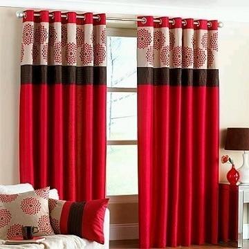 cortinas rojas para sala moderna