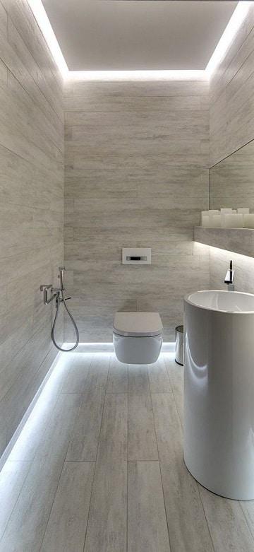 cuartos de baño blancos pequeños