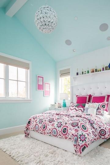 cuartos de color azul elegante