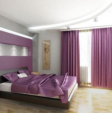 cuartos de color morado y lila paraparejas