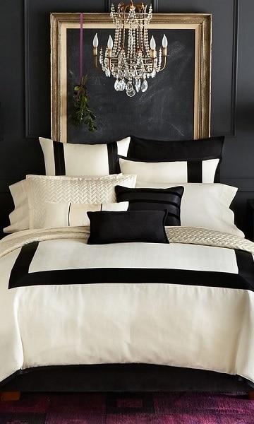 cuartos de color negro elegantes