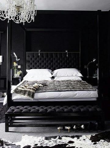 cuartos de color negro para parejas