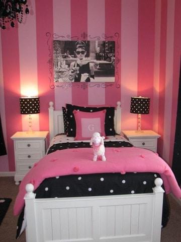 cuartos de color rosa elegante
