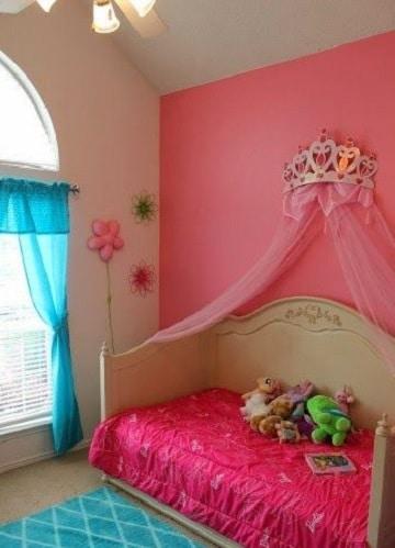 cuartos de color rosa tema princesa