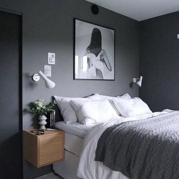 Ambientes y decorados en cuartos pintados de gris como for Pintado de habitaciones
