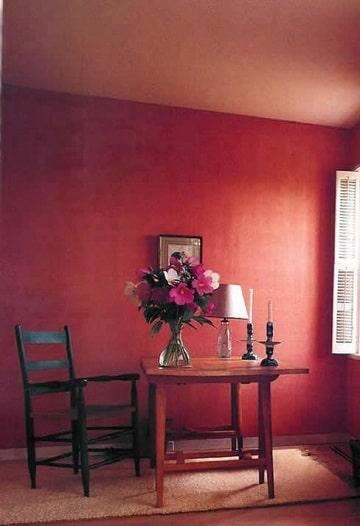 cuartos pintados de rojo comedor