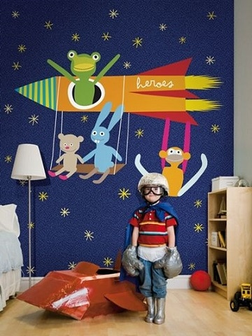 Ideas de colores en cuartos pintados para niños