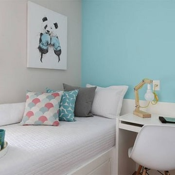 dormitorios azules y grises claros