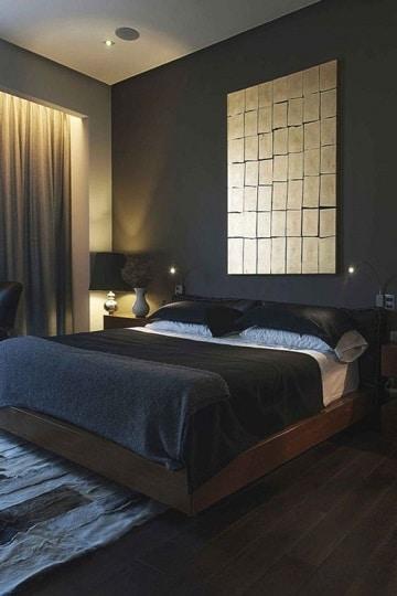 dormitorios azules y grises oscuros