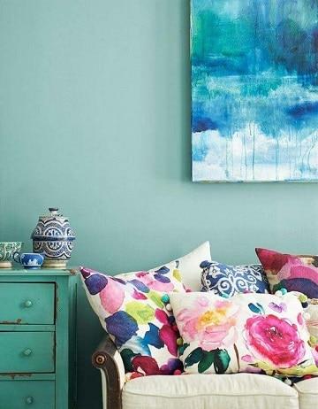 dormitorios color verde agua diseños