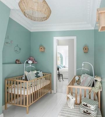 Ambientes celestiales en dormitorios color verde agua for Dormitorios verde agua