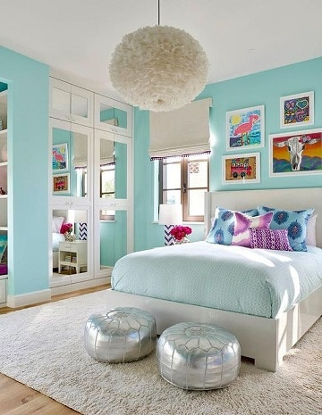 habitaciones azules y blancas para matrimonios