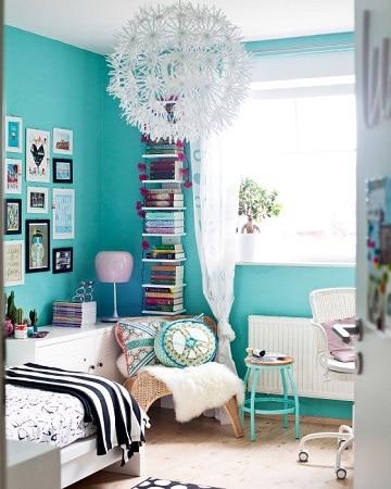 habitaciones color turquesa para soltero