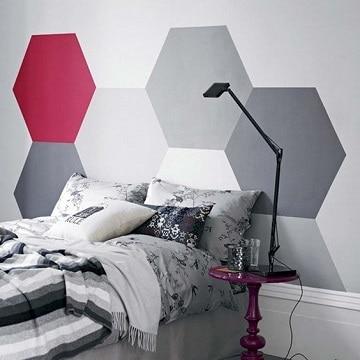 habitaciones en rojo y gris recamara