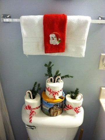 imagenes de baños decorados para navidad