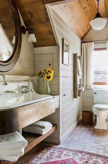 imagenes de baños decorados pequeños