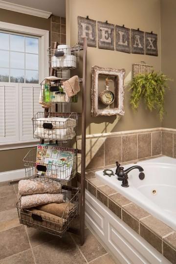 imagenes de baños decorados rusticos