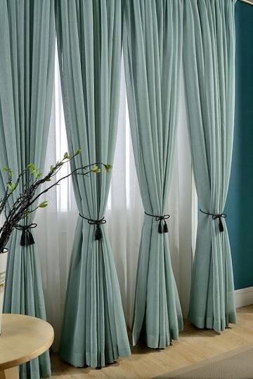 imagenes de cortinas para sala azul