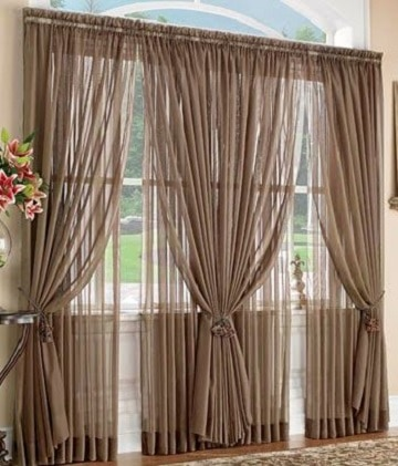 imagenes de cortinas para sala cafe