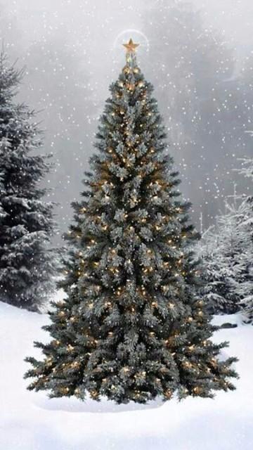 imagenes de pinos navideños decorados