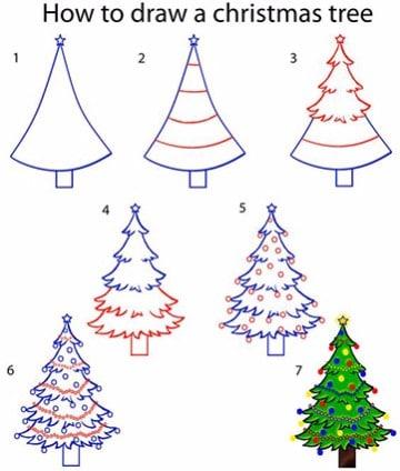 imagenes de pinos navideños paso a paso
