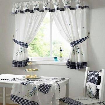 modelos de cortinas de cocina blanco
