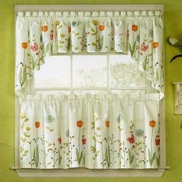modelos de cortinas de cocina doble