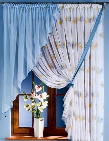 modelos de cortinas para cuartos azul