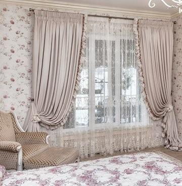 modelos de cortinas para cuartos beich