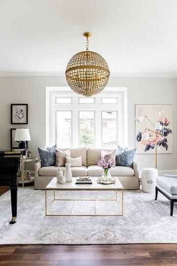 modelos de sala de estar elegante